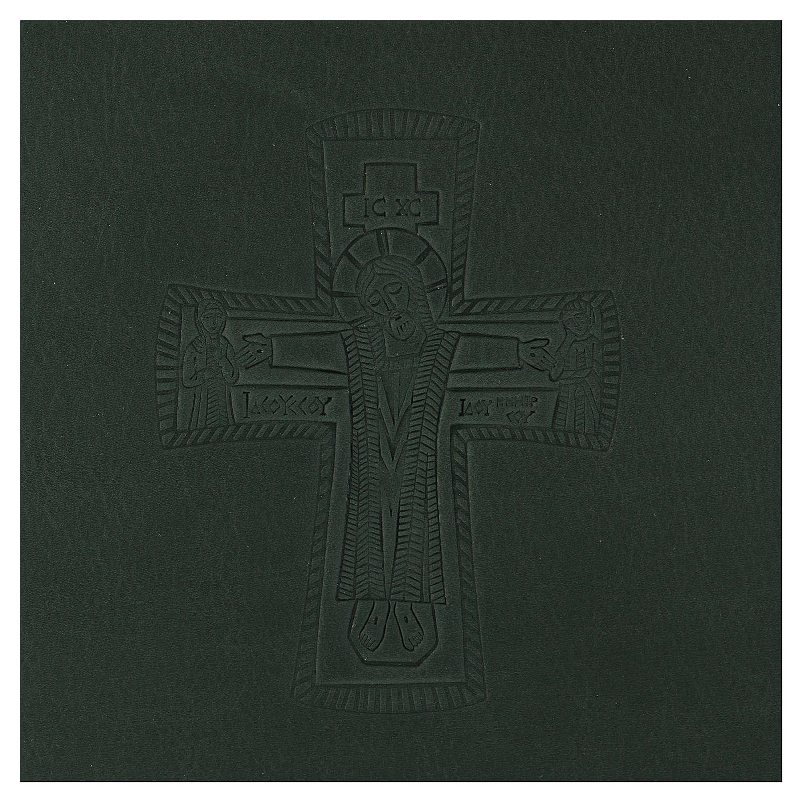 Custodia portariti formato A5 verde croce romana impressa Bethlèem 4