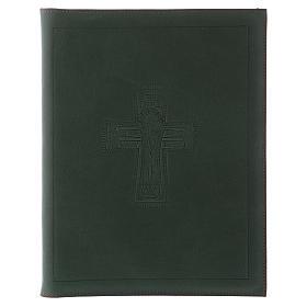 Custodia portariti formato A5 verde croce romana impressa Bethlèem s1