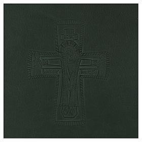 Custodia portariti formato A5 verde croce romana impressa Bethlèem s2