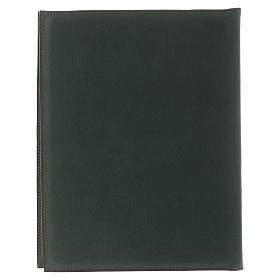 Custodia portariti formato A5 verde croce romana impressa Bethlèem s4