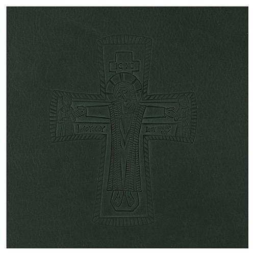 Custodia portariti formato A5 verde croce romana impressa Bethlèem 2