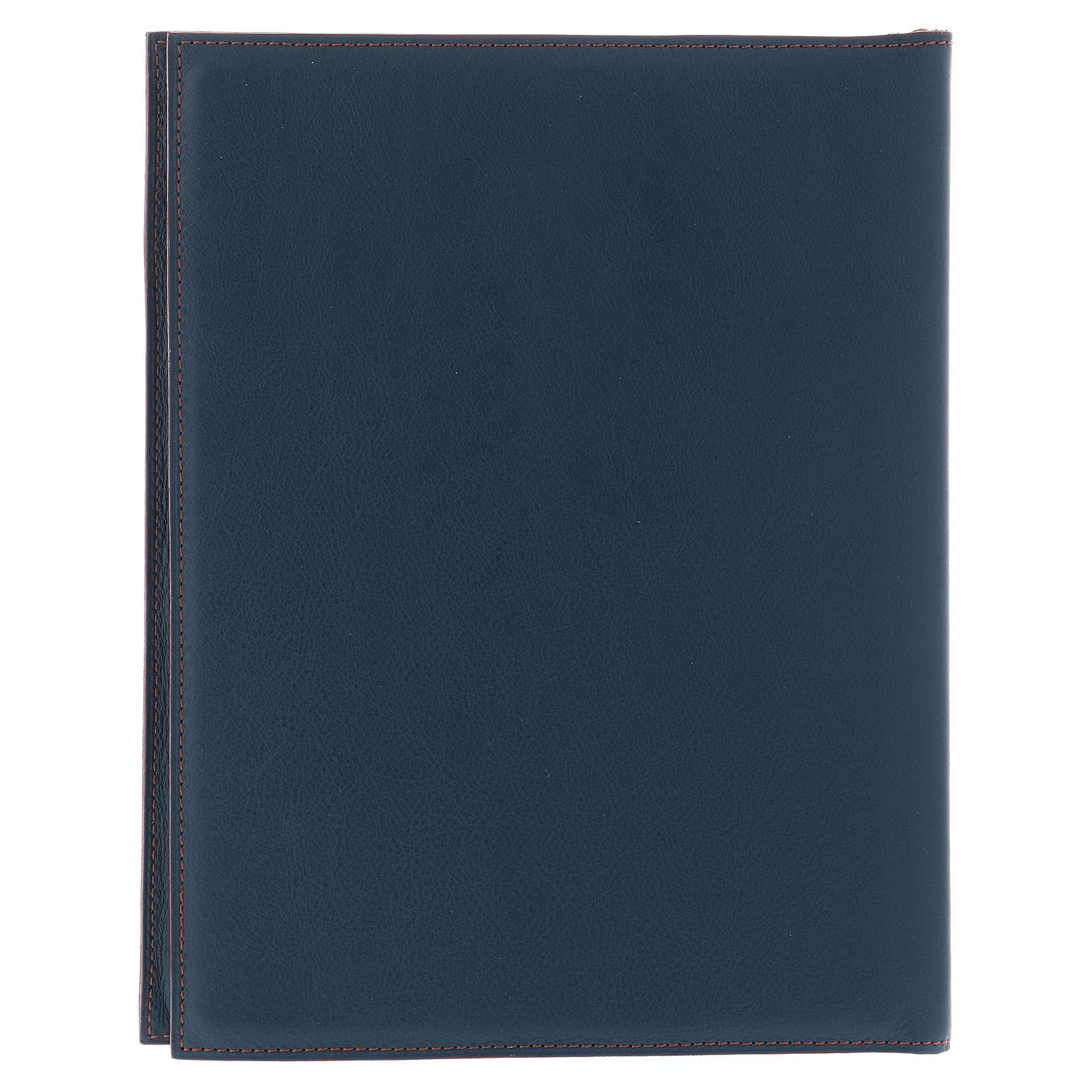 Custodia portariti formato A5 blu croce copta dorata Bethlèem 4