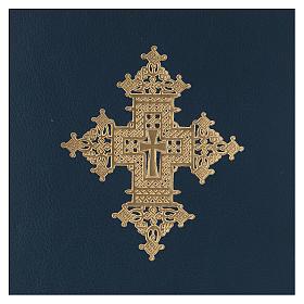Custodia portariti formato A5 blu croce copta dorata Bethlèem s2