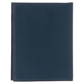 Custodia portariti formato A5 blu croce copta dorata Bethlèem s4