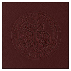 Folder for sacred rites in brown leather, hot pressed lamb Bethleem, A5 size s2
