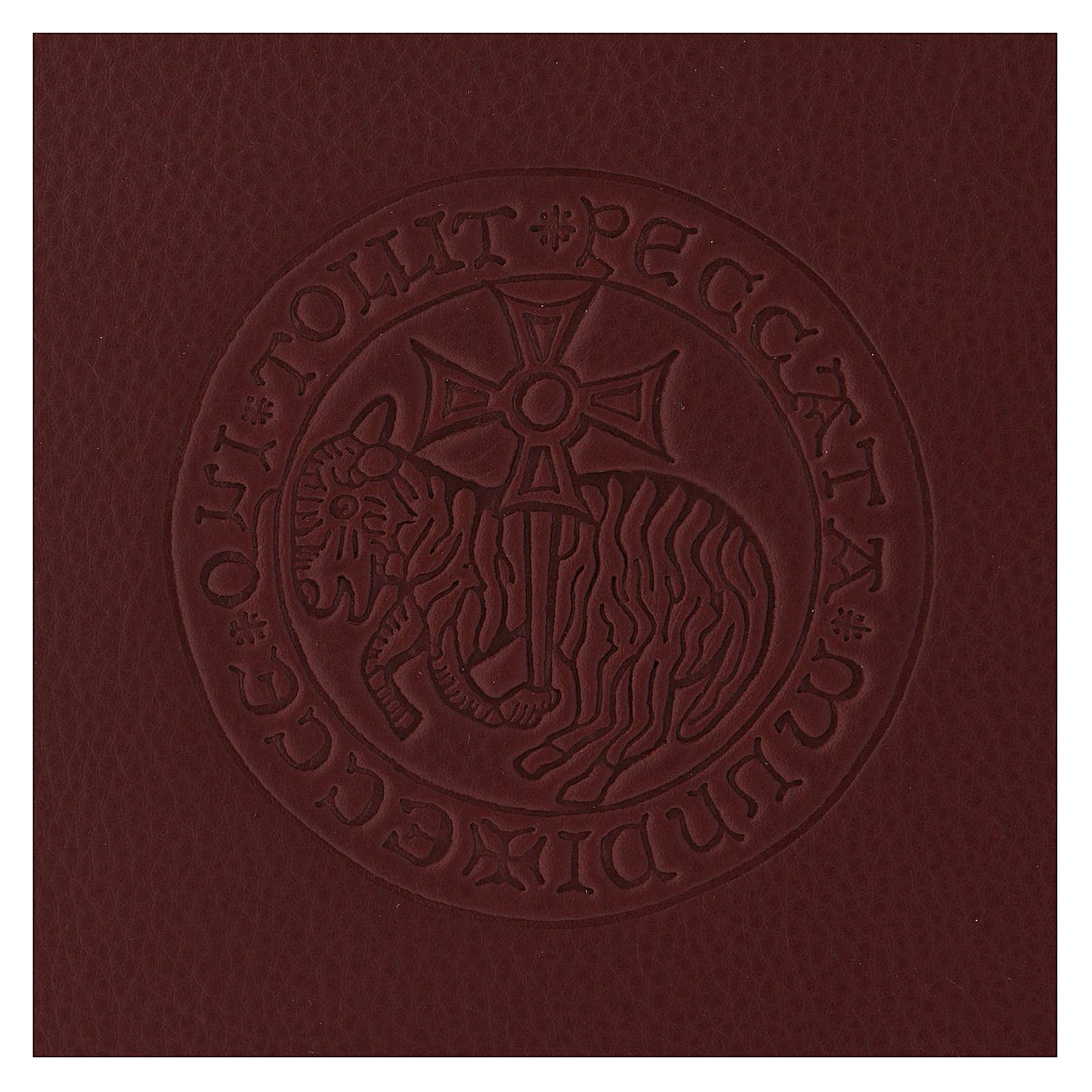 Funda para ritos formato A5 marrón cordero cruz copta Belén 4