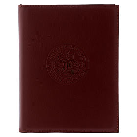 Funda para ritos formato A5 marrón cordero cruz copta Belén s1