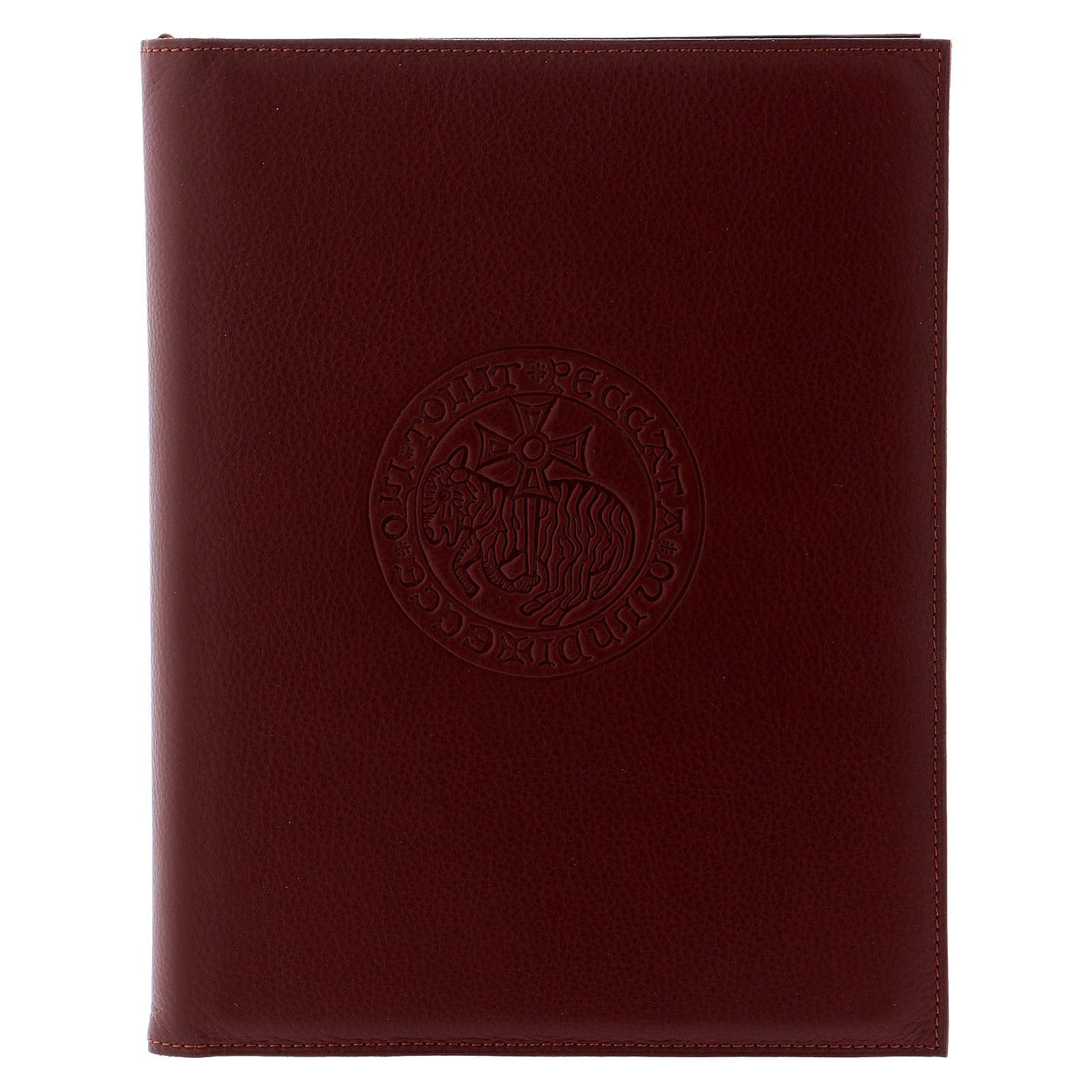 Custodia portariti formato A5 marrone agnello croce copta Bethlèem 4