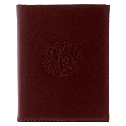 Custodia portariti formato A5 marrone agnello croce copta Bethlèem 1