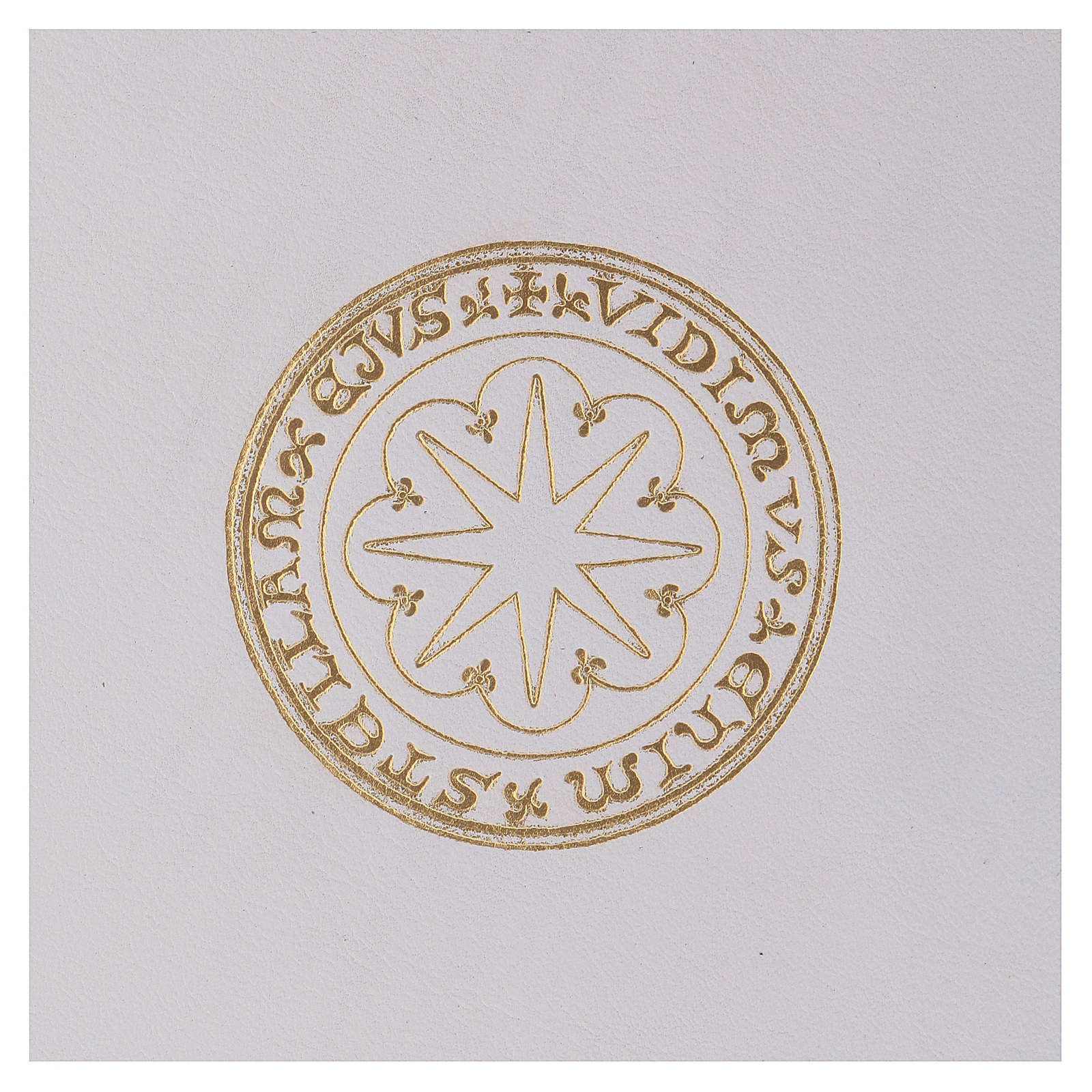 Funda para ritos formato A5 blanca estrella oro Belén 4