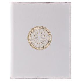 Funda para ritos formato A5 blanca estrella oro Belén s1