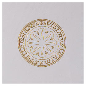 Funda para ritos formato A5 blanca estrella oro Belén s2