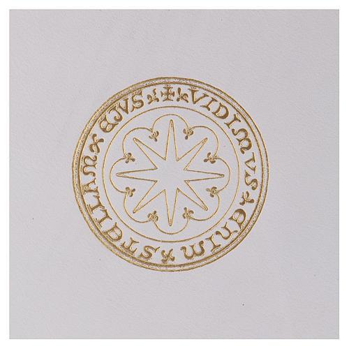 Funda para ritos formato A5 blanca estrella oro Belén 2
