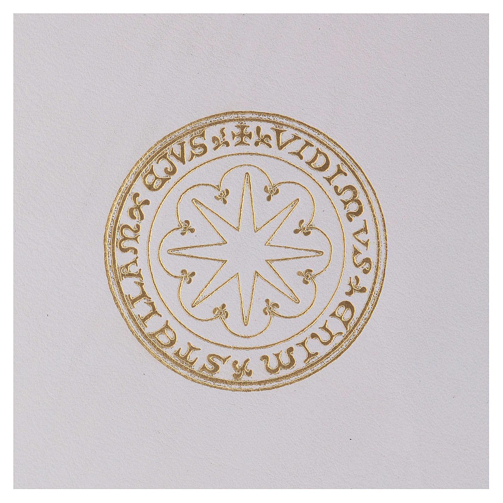 Couverture pour rite format A5 blanc étoile dorée  Bethléem 4