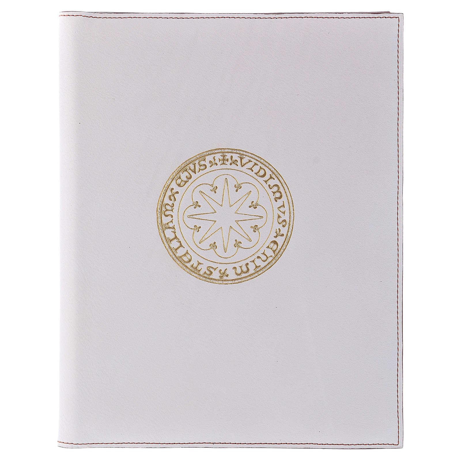 Custodia portariti formato A5 bianca stella oro Bethlèem 4