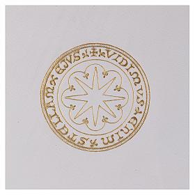 Custodia portariti formato A5 bianca stella oro Bethlèem s2