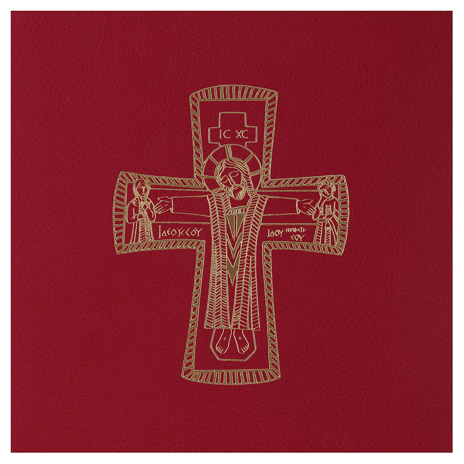 Funda para ritos formato A5 roja cruz romana dorada Belén 4