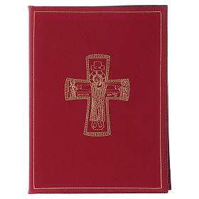 Funda para ritos formato A5 roja cruz romana dorada Belén s1