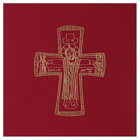 Custodia portariti formato A5 rossa croce romana dorata Bethlèem s2