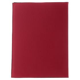 Custodia portariti formato A5 rossa croce romana dorata Bethlèem s4