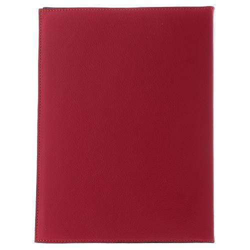 Custodia portariti formato A5 rossa croce romana dorata Bethlèem 4