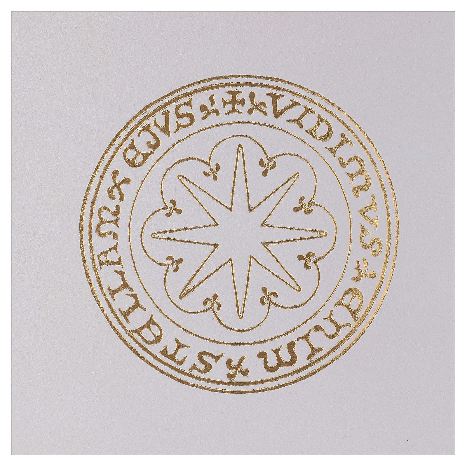 Funda para ritos formato A4 blanca estrella oro Belén 4