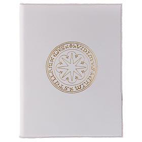 Funda para ritos formato A4 blanca estrella oro Belén s1