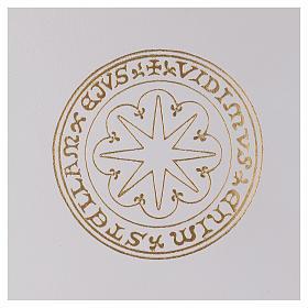 Funda para ritos formato A4 blanca estrella oro Belén s2