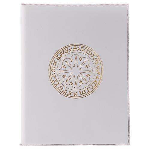Funda para ritos formato A4 blanca estrella oro Belén 1
