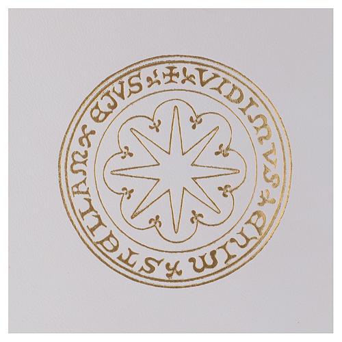 Funda para ritos formato A4 blanca estrella oro Belén 2