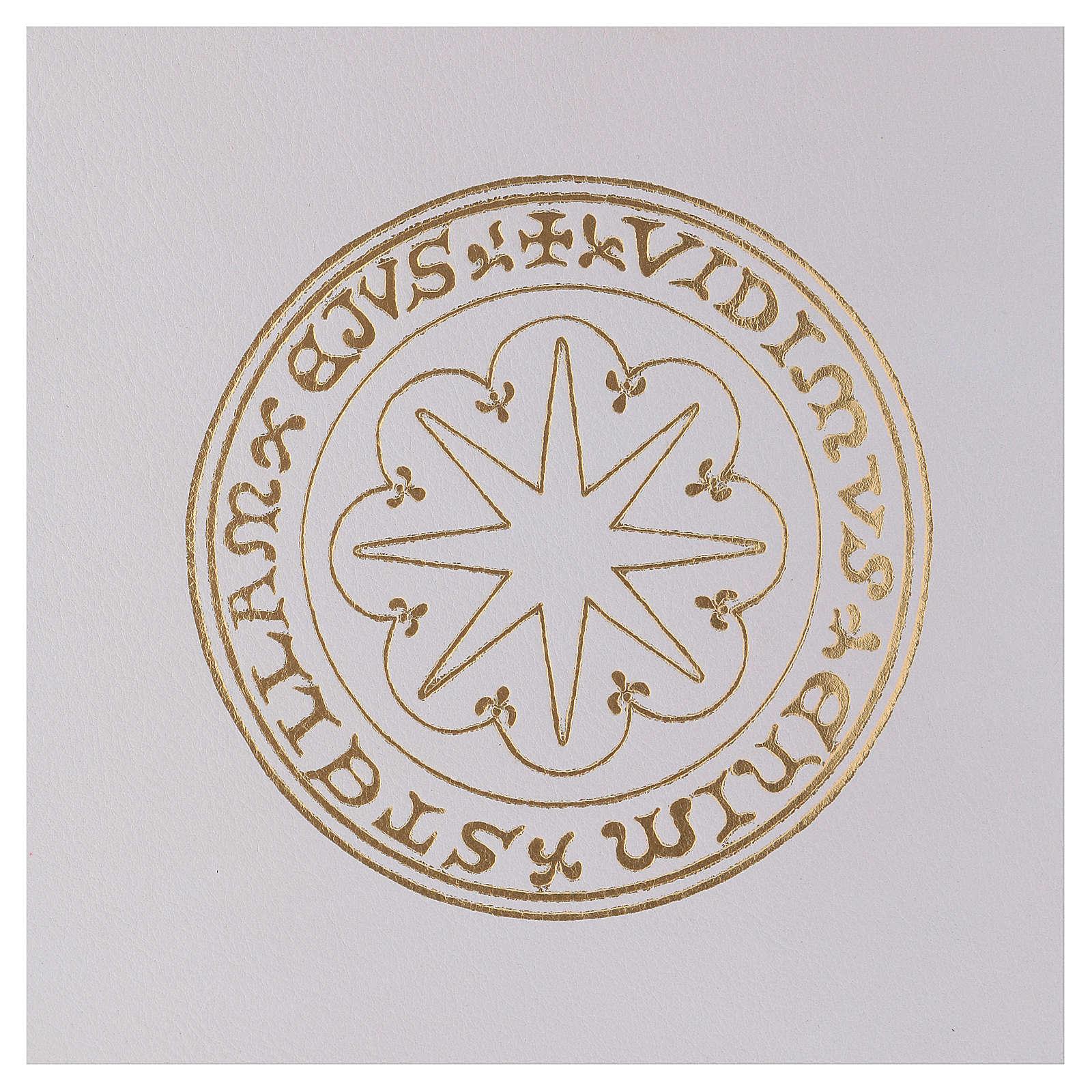 Custodia portariti formato A4 bianca stella oro Bethlèem 4