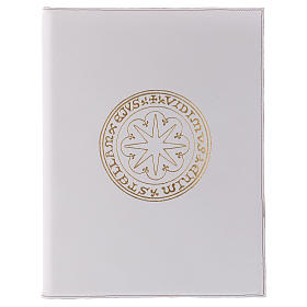Custodia portariti formato A4 bianca stella oro Bethlèem s1