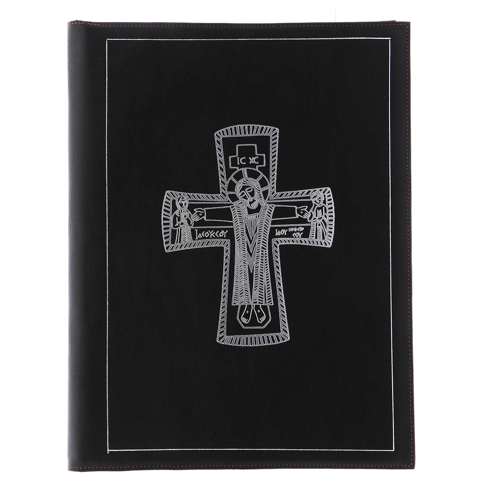 Custodia portariti formato A4 nera croce romana argentata Bethlèem 4