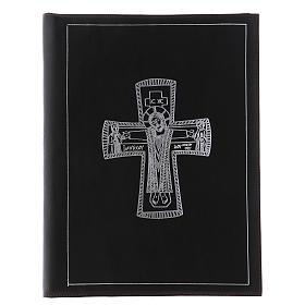 Custodia portariti formato A4 nera croce romana argentata Bethlèem s1