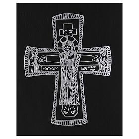Custodia portariti formato A4 nera croce romana argentata Bethlèem s2
