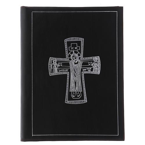 Custodia portariti formato A4 nera croce romana argentata Bethlèem 1
