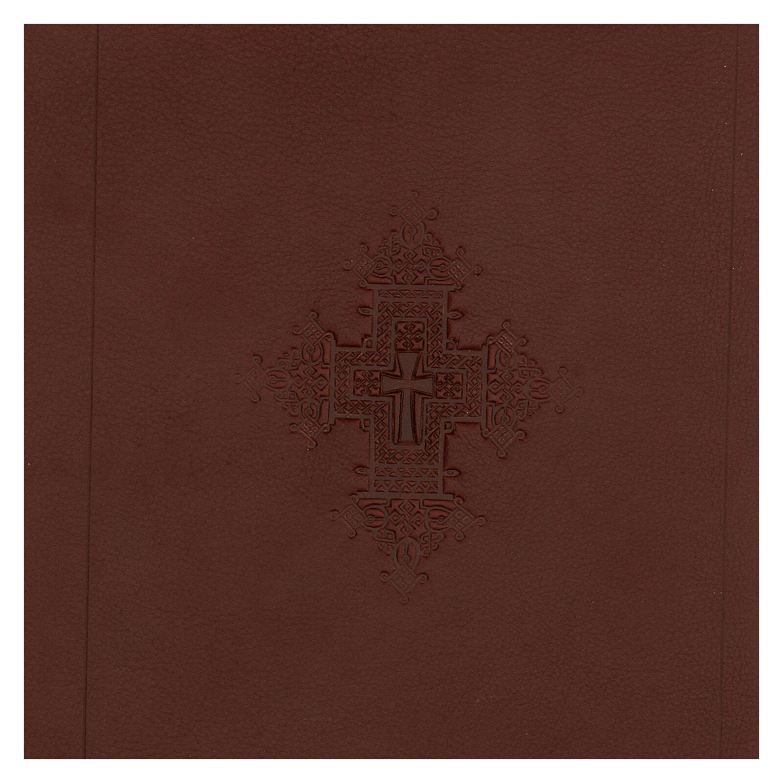A5 case in REAL LEATHER with cross decoration 4