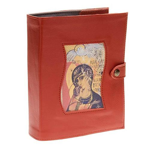 Couverture Néocatéchuménale rouge Vierge et saint esprit 1
