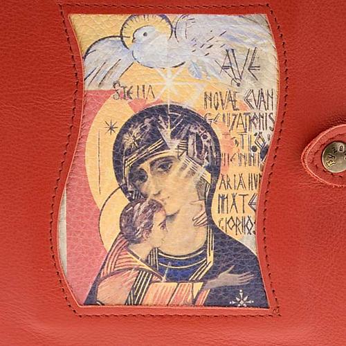 Couverture Néocatéchuménale rouge Vierge et saint esprit 2