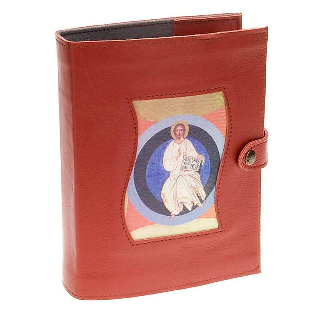 Capa Caminho Neocatecumenal vermelha Cristo no círculo 4