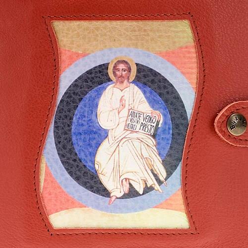 Capa Caminho Neocatecumenal vermelha Cristo no círculo 2
