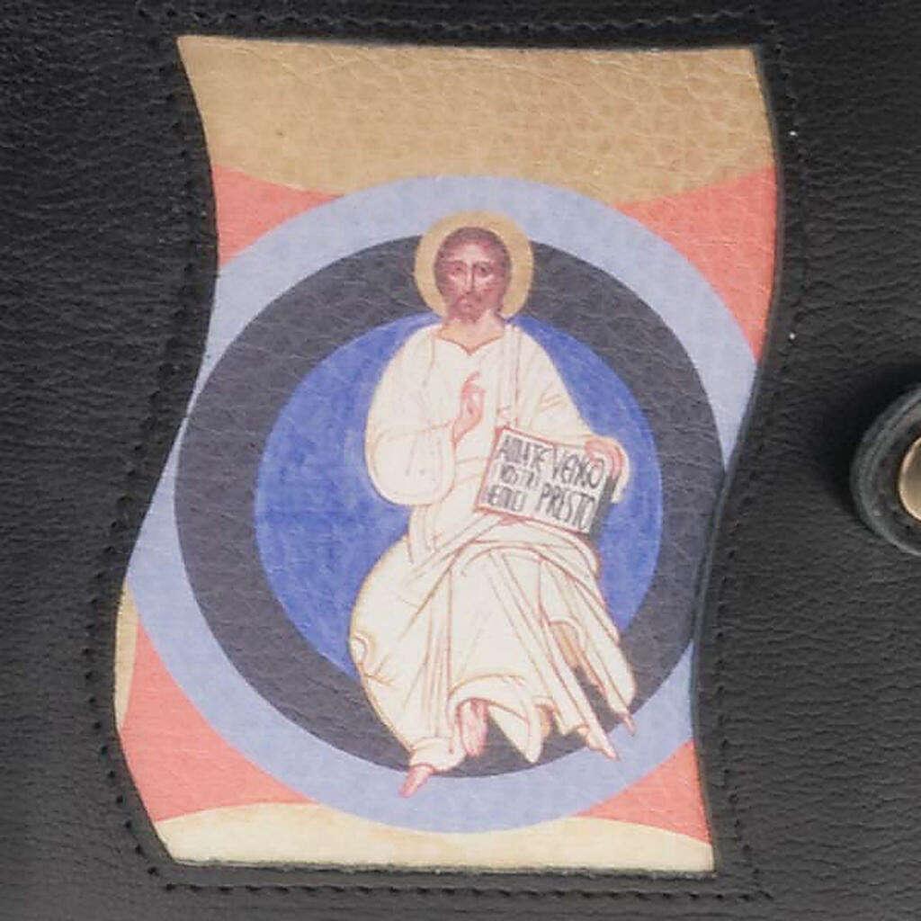Capa livro Caminho Neocatecumenal preta Cristo no círculo 4