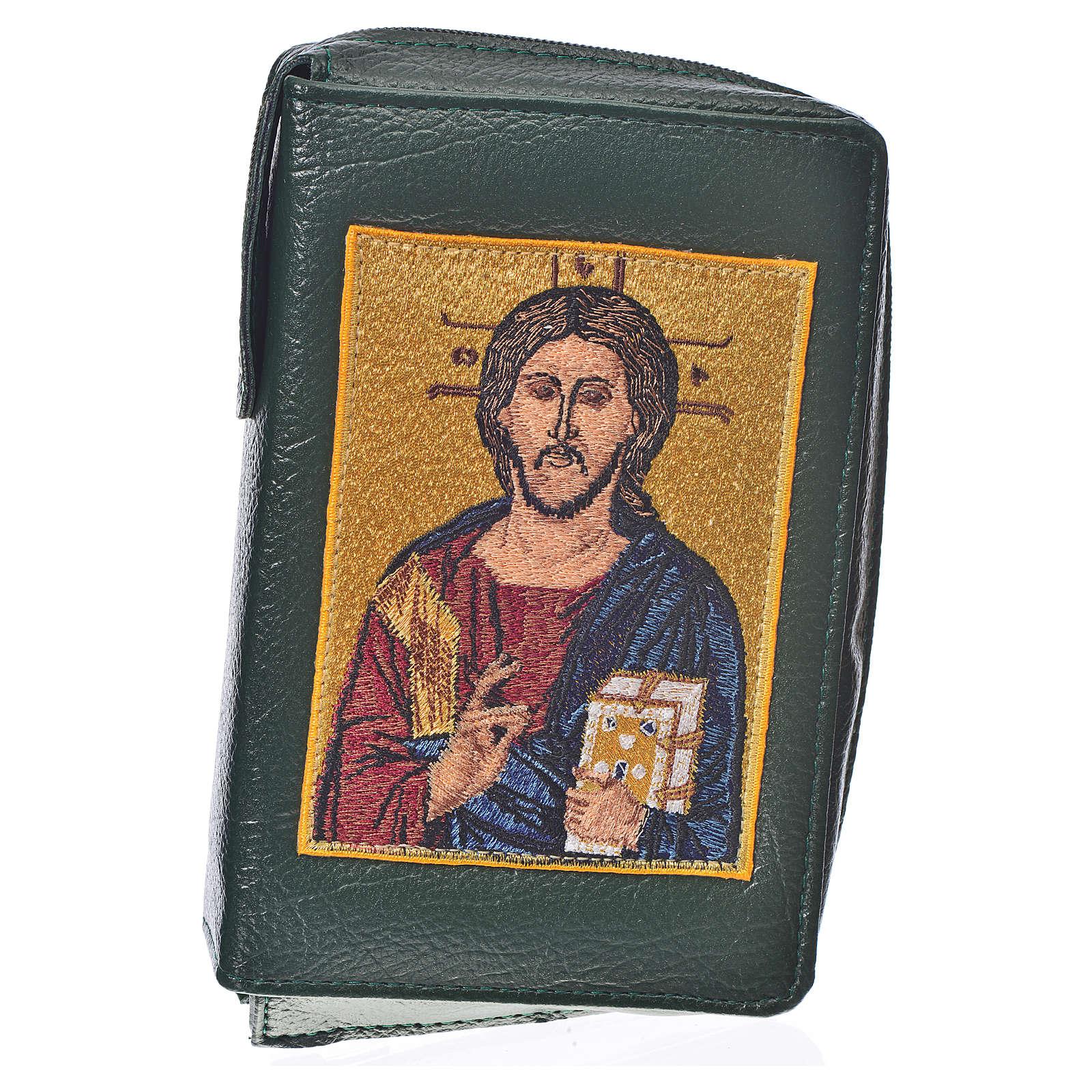 Funda Sagrada Biblia CEE Ed. popular verde Pantocrátor simil cue 4