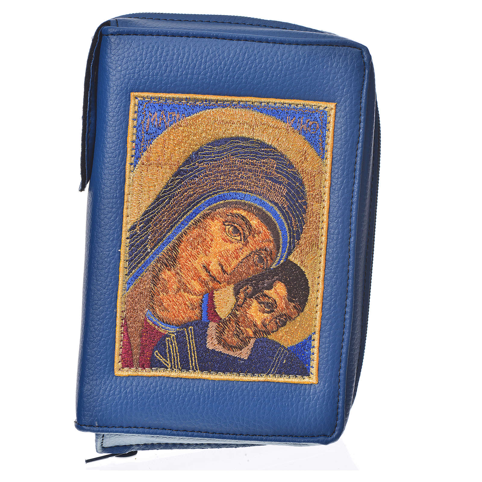 Funda Sagrada Biblia CEE Ed. popular azul Virgen de Kiko 4