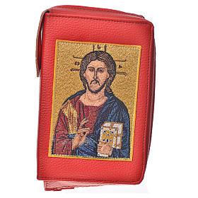 Funda Sagrada Biblia CEE ED. Pop. roja simil cuero Pantocrátor s1