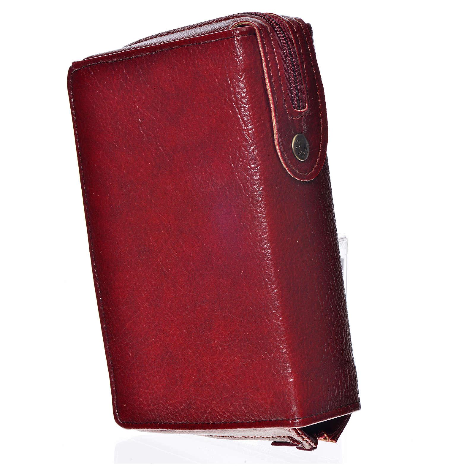 Funda Sagrada Biblia CEE ED.Pop. burdeos simil cuero Pantocrator 4