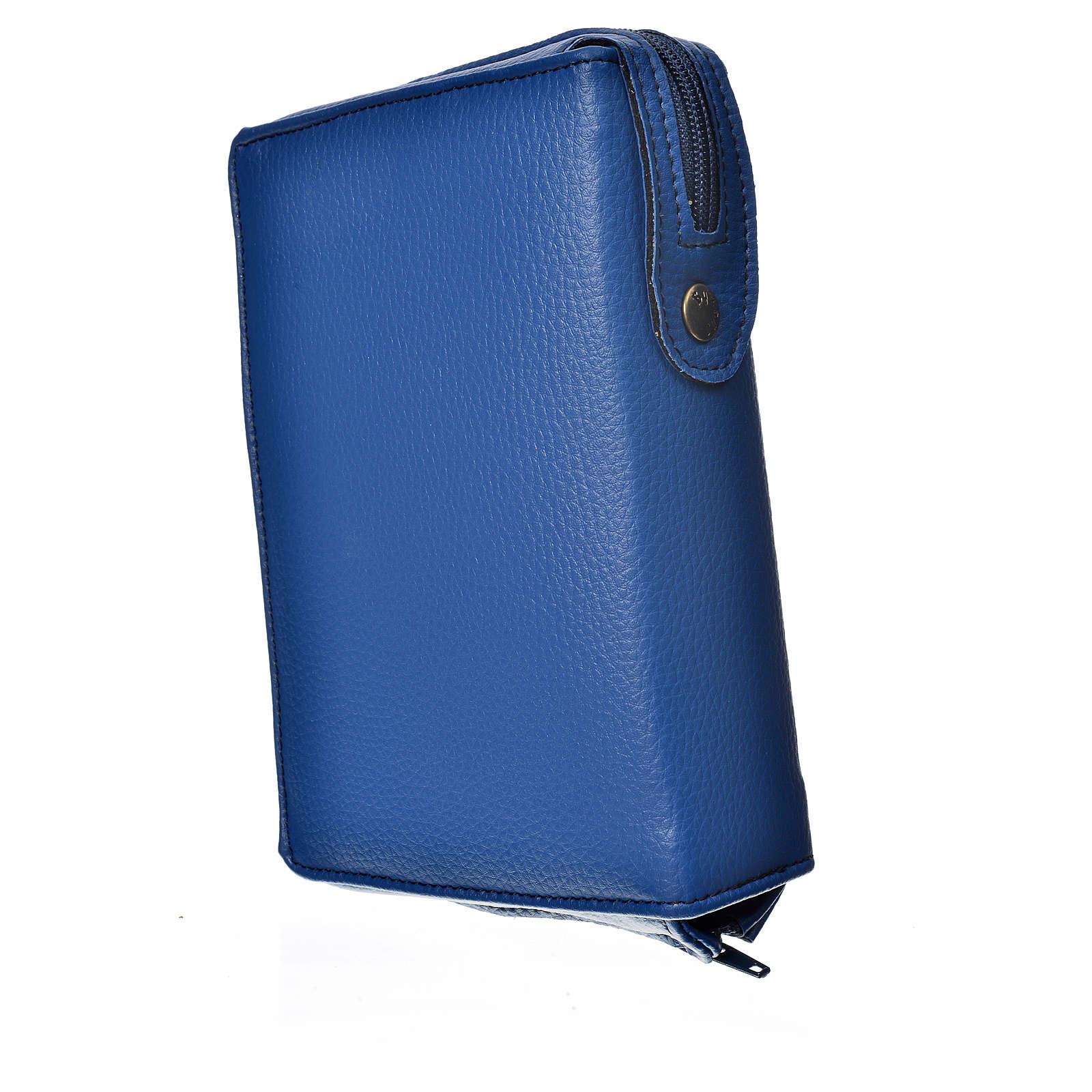 Funda Sagrada Biblia CEE ED. Pop. azul simil cuero Pantocrator 4