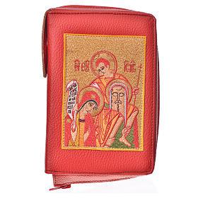 Funda Sagrada Biblia CEE ED. Pop. rojo simil c. Sagrada Familia s1