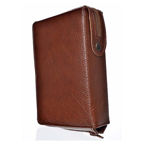 Funda Sagrada Biblia CEE ED. Pop. marrón simil c. Sagrada Famili 2