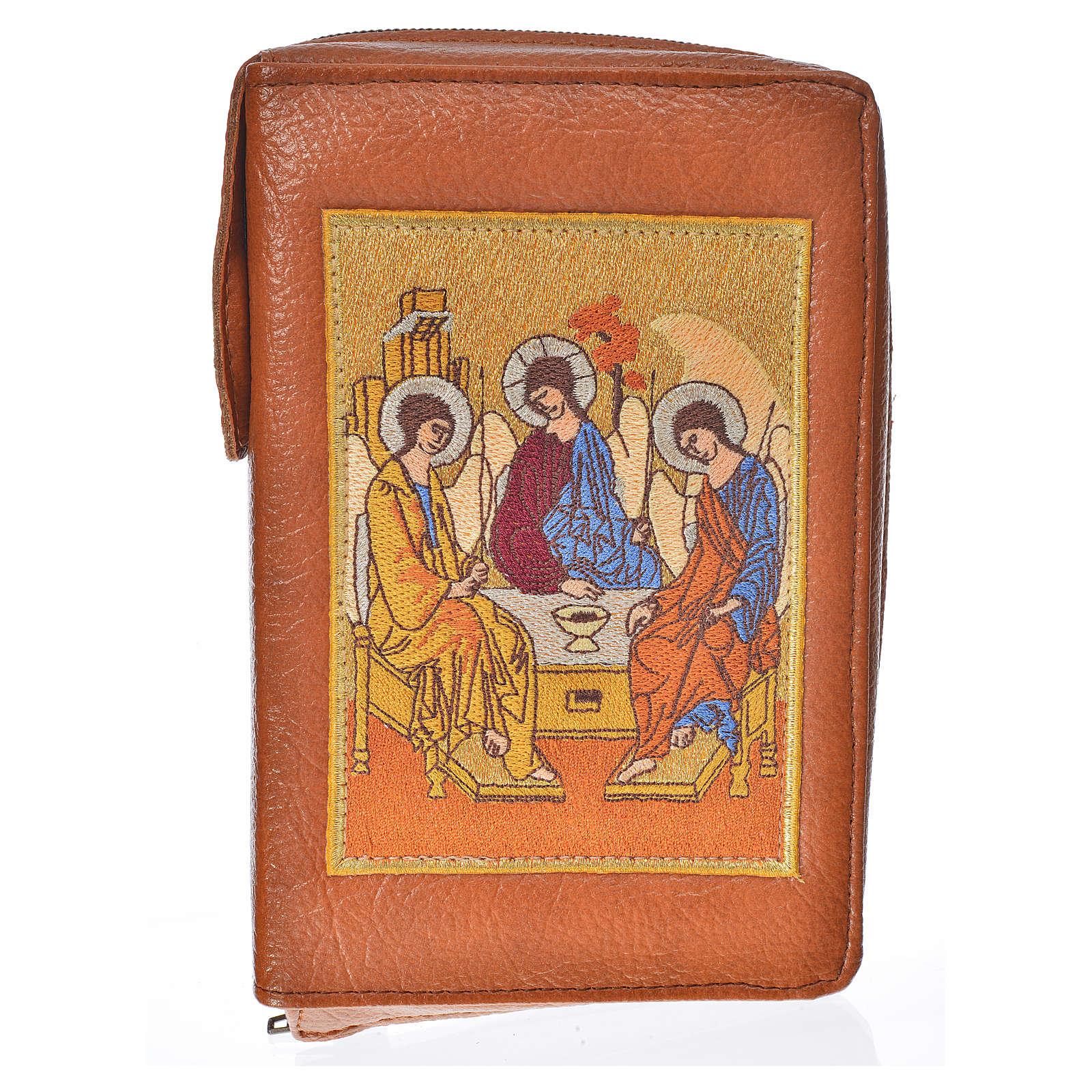 Funda Sagrada Biblia CEE ED. Pop. marrón simil c. Santísima T. 4